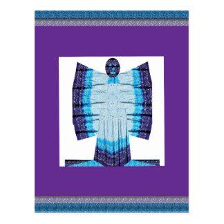 綿織物99から成っているブルームーンの天使の蝶 ポストカード