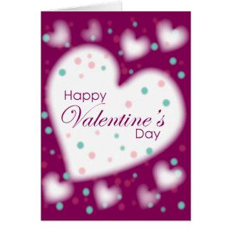 綿菓子のハートとの幸せなバレンタインデー カード