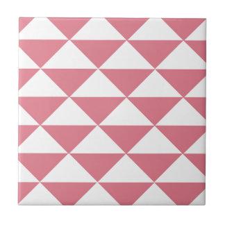 綿菓子のピンクおよび白い三角形 タイル