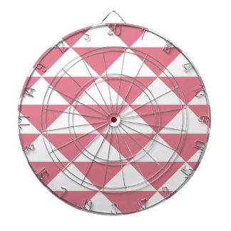綿菓子のピンクおよび白い三角形 ダーツボード