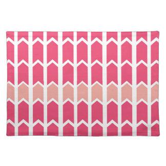 綿菓子のピンクによって縁どられる塀のパネル ランチョンマット