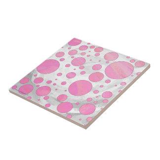 綿菓子のピンクの水玉模様 タイル