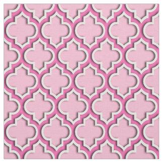 綿菓子のピンクのHotPinkのモロッコのクローバー#5DS ファブリック