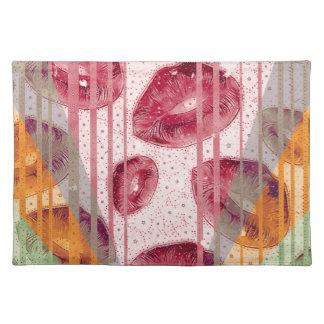 綿菓子のラズベリーの唇 ランチョンマット