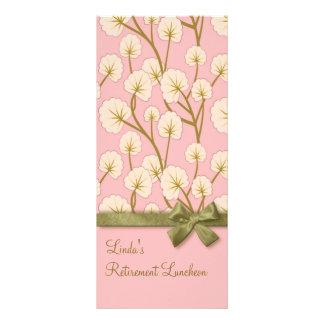 綿菓子の花束の退職パーティープログラム ラックカード