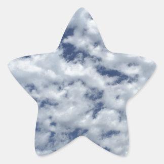 綿菓子の雲 星シール