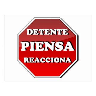 緊張緩和PIENSA Reacciona ポストカード