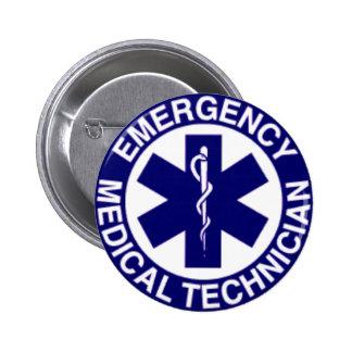 緊急の医学の技術者EMT 5.7CM 丸型バッジ