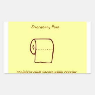 緊急の浴室のパスのギャグのギフト 長方形シール