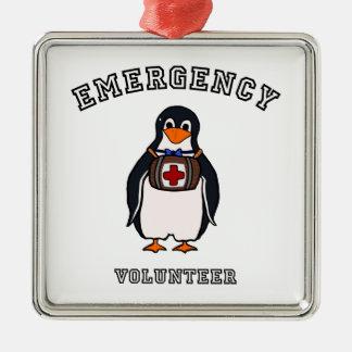 緊急時のボランティア メタルオーナメント