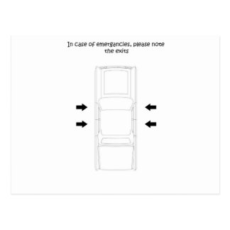 緊急車の出口 ポストカード