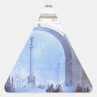 総司令部の造ることのアーチ 三角形シール