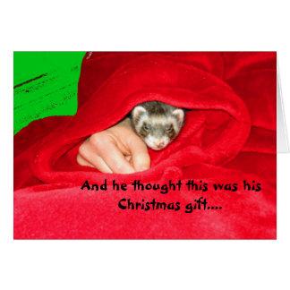 総括的なクリスマスカードのフェレット カード