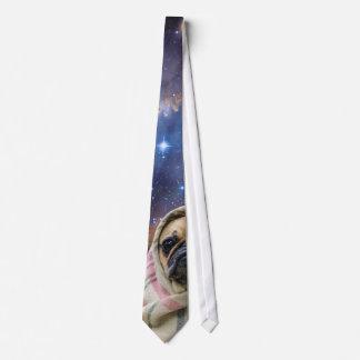 総括的な宇宙のタイのパグ ネクタイ
