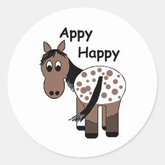 総括的なAppaloosa -幸せなAppy ラウンドシール