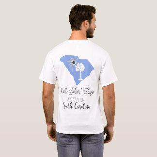 総日食のサウスカロライナの白のティー Tシャツ