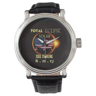総日食の腕時計8月21日。 米国 腕時計