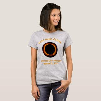 総日食(ジェファソンシティ、ミズーリ) Tシャツ