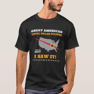 総日食- 2017年-私はそれを見ました! Tシャツ