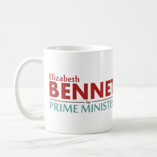 総理大臣キャンペーンマグのためのエリザベスのベネット コーヒーマグカップ