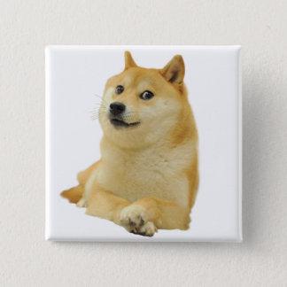 総督のミーム-総督shibe総督の犬かわいい総督 5.1cm 正方形バッジ