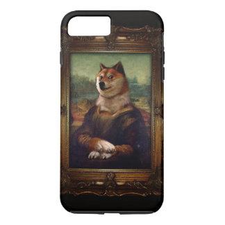総督のモナ・リザのファインアートのShibeのミームの絵画 iPhone 8 Plus/7 Plusケース