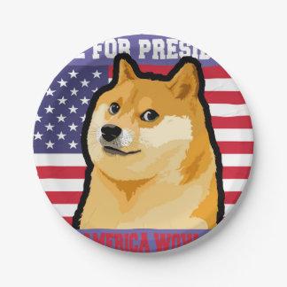 総督の大統領-総督shibe総督の犬かわいい総督 ペーパープレート