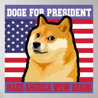 総督の大統領-総督shibe総督の犬かわいい総督 ポスター