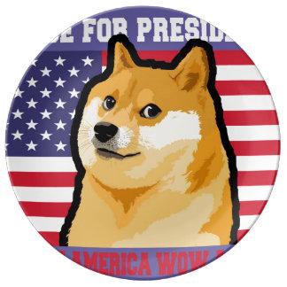 総督の大統領-総督shibe総督の犬かわいい総督 磁器プレート