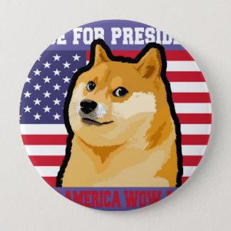 総督の大統領-総督shibe総督の犬かわいい総督 10.2cm 丸型バッジ