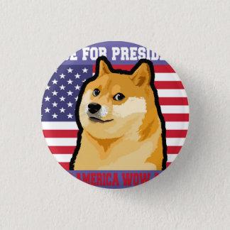 総督の大統領-総督shibe総督の犬かわいい総督 3.2cm 丸型バッジ