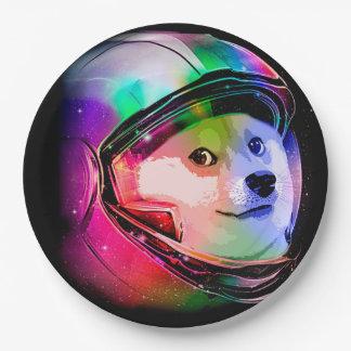 総督の宇宙飛行士カラフル犬-総督shibe総督犬 ペーパープレート