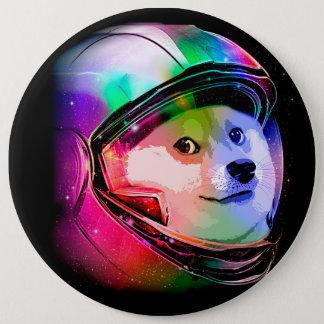 総督の宇宙飛行士カラフル犬-総督shibe総督犬 15.2cm 丸型バッジ