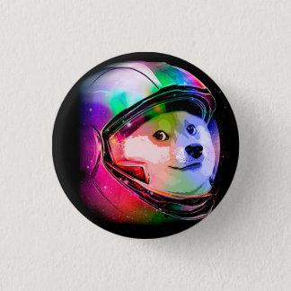 総督の宇宙飛行士カラフル犬-総督shibe総督犬 3.2cm 丸型バッジ