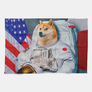 総督の宇宙飛行士総督shibe総督の犬かわいい総督 キッチンタオル