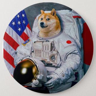 総督の宇宙飛行士総督shibe総督の犬かわいい総督 15.2cm 丸型バッジ