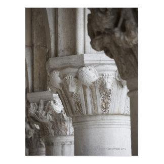 総督の宮殿ベニスイタリアのコラムの詳細 ポストカード