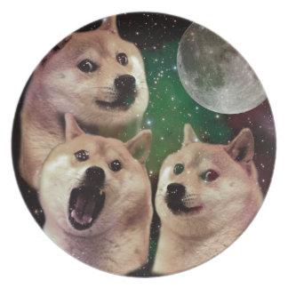 総督の月-総督の宇宙-犬-総督- shibe プレート