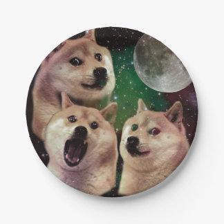 総督の月-総督の宇宙-犬-総督- shibe ペーパープレート