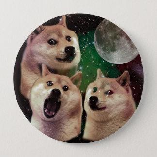 総督の月-総督の宇宙-犬-総督- shibe 10.2cm 丸型バッジ