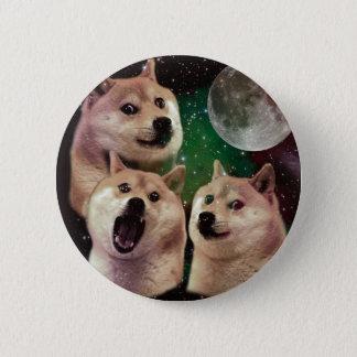 総督の月-総督の宇宙-犬-総督- shibe 5.7cm 丸型バッジ