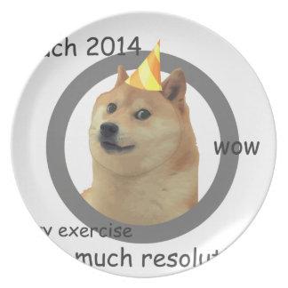 総督新年の決断の プレート