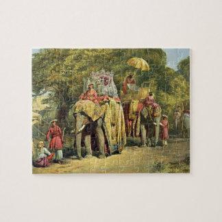総督State Howdah 1863年の(chromol ジグソーパズル