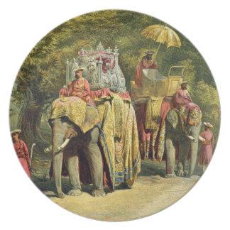 総督State Howdah 1863年の(chromol プレート