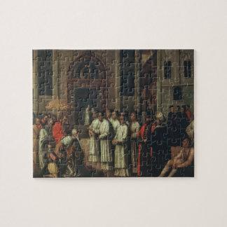 総督Zianiは会いますアレキサンダー法皇にIII (1105-81年) ジグソーパズル