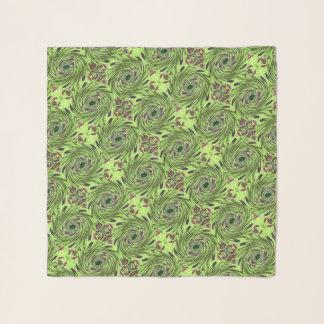 緑およびあずき色のKalidiscopeのシフォンのスカーフ スカーフ