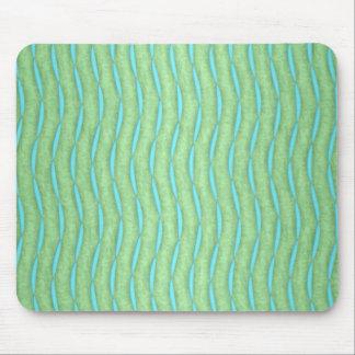 緑およびアクアマリンのターコイズパターン マウスパッド