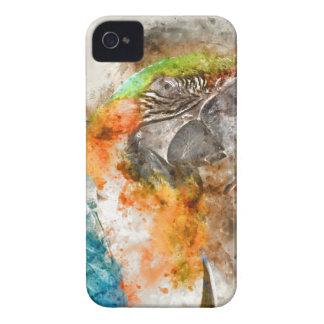 緑およびオレンジコンゴウインコの鳥 Case-Mate iPhone 4 ケース
