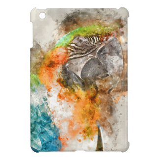 緑およびオレンジコンゴウインコの鳥 iPad MINIケース