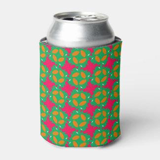 緑およびショッキングピンクのデザインの刺激的なクーラーボックス 缶クーラー